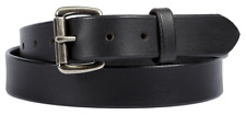 Black leather belt with Lifetime warranty. Amish made in the USA.