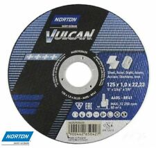 125mm 5 inch Norton Vulcan Cutting Grinding Discs Stainless Steel Metal 125x1,0