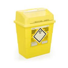 Click Medical Sharps Bin Temporary & Final Closure Feature 13l Yellow Cm0647