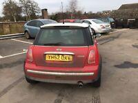Mini Cooper spares or repair no reserve