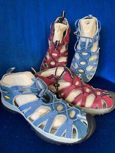 2x Keen Waterproof Sandals UK 6 EU 39 Blue/ Burgundy