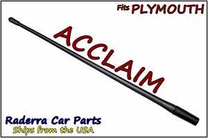 "FITS: 1989-1995 Plymouth Acclaim - 13"" SHORT Custom Flexible Rubber Antenna Mast"