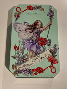 Marie Ange Di Costa Flower Fairy Tin Empty MINT Green with Lilac Fairy