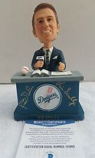 VIN SCULLY & Gibson signed Bobblehead 2012 Los Angeles Dodgers SGA Beckett COA