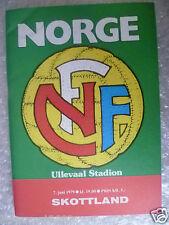 1979 Official Programme NORWAY v SOTTLAND, 7 June