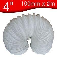 "100mm x 2 m metre       4"" PVC Flexible Ducting / Tumble dryer Hose / Flexi hose"