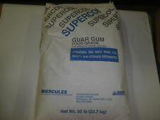 50 LBS  High Purity GUAR GUM  Food Grade - Hercules SUPERCOL Type U High Quality