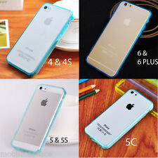 Silicone Gel TPU Bumper Cover Case Clear Back for iPhone 6 6 PLUS 4S 5S SE 5C