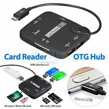Micro USB Host Adapter OTG Cable SDHC SD TF Card Reader Hub for OTG Smartphone