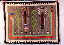 """Navajo Indian Yei Rug c.1950 33"""" x 36"""""""