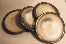 4 Frankoma Pottery Satin Brown Dinner Plates