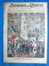 La Domenica del Corriere 4 novembre 1923 De Amicis - Milano - Vittorio Emanuele
