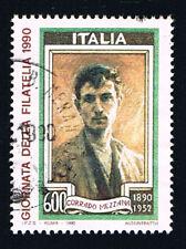 ITALIA UN FRANCOBOLLO GIORNATA DELLA FILATELIA CORRADO MEZZANA 1990 usato