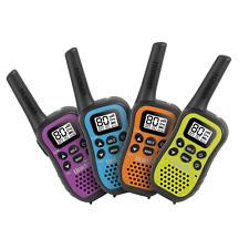UNIDEN UH45-4 UHF HANDHELD RADIOS 80 CHANNEL 0.5W 1/2 QUAD COLOUR PACK