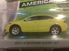 Greenlight Motor World 2013 DODGE DART GT in LIME GREEN 1/64-scale diecast rare