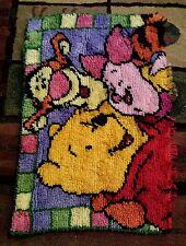 Handmade crocheting Rug Kit Carpet Winnie The Pooh Disney Retro Chic 29 X 18