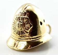 Vintage 9ct Gold Charm - Heavy Police Helmet 5.49g (Hallmarked) 9k 375