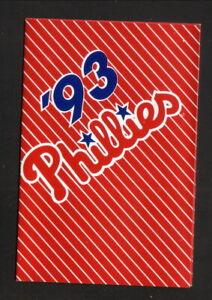 Philadelphia Phillies--1993 Pocket Schedule--Gold Medal/Reebok