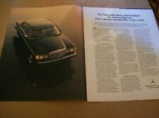 Original 1983 Mercedes - Benz 240 D Sedan Magazine Ad
