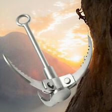 Outdoor Climbing 3 Claws Grappling Hook Carabiner Tool Foldable Stainless Steel