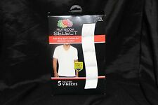 Fruit of the Loom Men's V-Neck Tee (Pack of 5)  XL  Tag Free No Ride-up