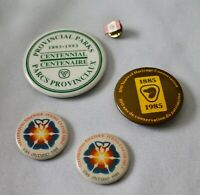 Lot 5 Vtg CANADA buttons pins Provincial Parks Heritage Conservation Ontario 200