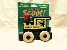 Montgomery Schoolhouse My Little Scoot Midget Railway Engine Car Wooden Train