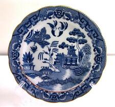 EUC BLUE WILLOW PORCELAIN SALAD PLATE (UNMARKED, UNKNOWN MAKER)