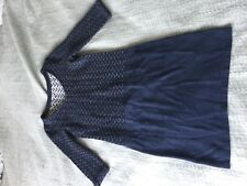 Lovely White Stuff navy blue layered tunic dress size 8! Knit top
