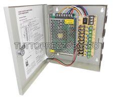 Alimentatore per telecamera box 9 ch stabilizzato centralina videosorveglianza