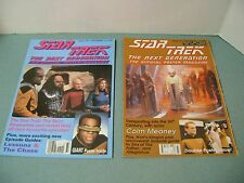 Star Trek TNG Set of 2 Official Poster Magazines #33, 73