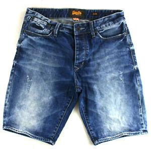 Superdry Shorts Hose Jeans Blau Gr. W 32