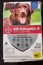 BAYER K9 ADVANTIX II EXTRA LARGE DOG 4 MONTHLY DOSES. OPEN PACKAGE