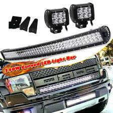 40 42'' Curved LED Light Bar UTV Roof Lamp Fit Yamaha Rhino Viking YXZ 1000 240W