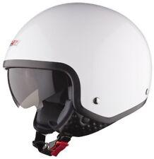 Ls2 Of561 Wave Tinta unita Bianco Viso aperto Moto Motocicletta Scooter Casco XS