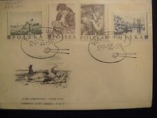 POLAND Sc# 850-851 & 853-854 FDC, 1959 Paintings by Polish Artists
