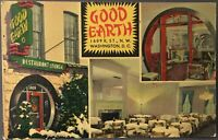 Washington DC ~ Good Earth Chinese Restaurant ~ Multiple View Linen Postcard