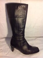 Hush Puppies Black Knee High Leather Boots Size 7