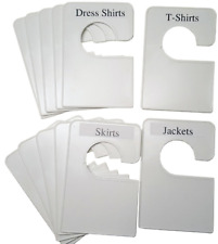 12 Blank White Clothing Dividers Plus 48 Labels Organization for closet, laundry