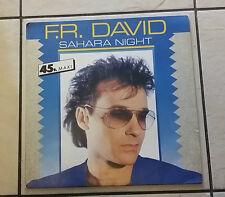 F.R. David – Sahara Night - CBS A 127206  - 1986 - RARO -