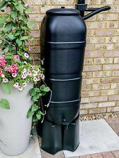More details for strata ward 100l slimline garden water butt complete kit in black