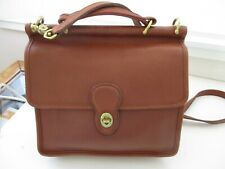 Vintage COACH 9927 British Tan Leather Willis Convertible Crossbody Purse