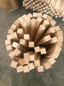 """*PREMIUM* 1-3/4""""x1-3/4"""" Curly HARD Maple Wood Turning Square POOL CUE Blanks S4S"""