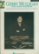 """GERRY MULLIGAN """"PLAY-ALONG BOOK AND CD"""" E FLAT INSTRUMENTS MUSIC BOOK BRAND NEW!"""