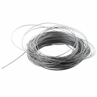 Hoisting Lifting 7x7 1mm Dia Stainless Steel Flexible Wire Rope 177Ft Q8S5 W2R8