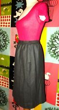 COURREGES  VINTAGE JUPE SKIRT FIFTIES TRENDY  LAINE PEIGNEE BAYADERE T 34