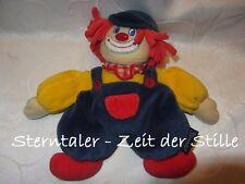 STERNTALER Clown Wichtel Puppe blau gelb Rassel ca. 19cm