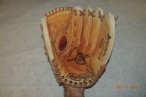 "Rawlings RSGXL Leather Softball RHT Glove 14"" Fastback Palm Pad Deep Well EUC!!"
