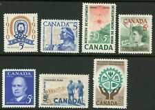 Canada   1960-61   Unitrade # 389-395   Complete Mint Never Hinged Year Set