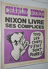 CHARLIE HEBDO N°195 12/08 1974 WOLINSKI CAVANNA CHORON REISER GEBE WILLEM CABU